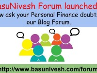 BasuNivesh Forum Launched-Ask us your Personal Finance doubts