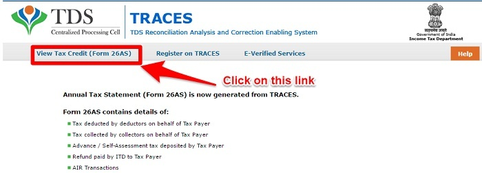 Traces Form 26AS