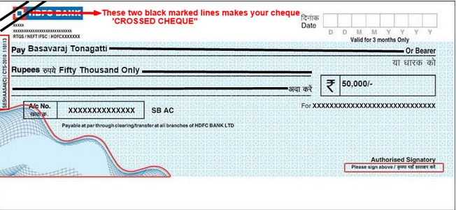 What is Account Payee Crossed Cheque & Bearer Cheque