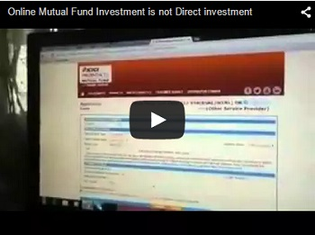 Online Mutual Fund Investment is really a DIRECT Investment?