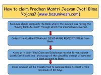 How to claim Pradhan Mantri Jeevan Jyoti Bima Yojana or Pradhan Mantri Suraksha Bima Yojana?