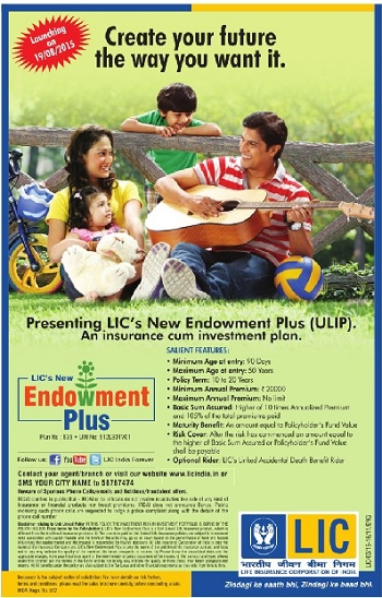 LIC's Endowment Plus-835