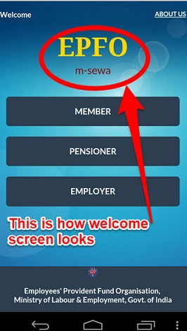 EPF Mobile App-Activate UAN and Check EPF Balance