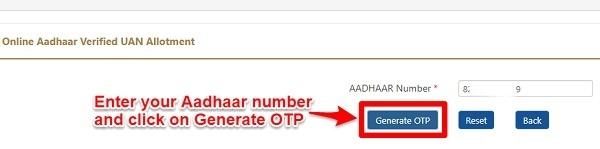 EPF UAN Registration and Activation Aadhaar Based