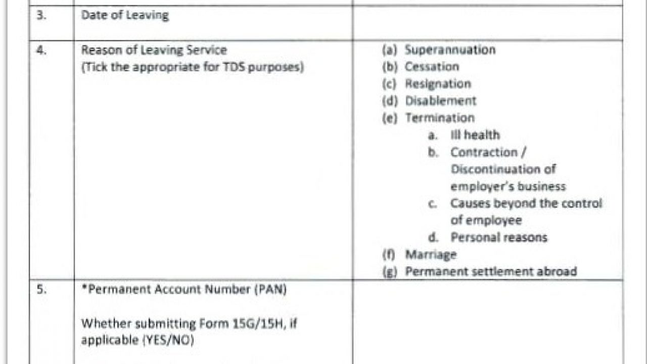 New EPF Withdrawal Forms-Withdraw without employer signature
