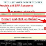 combine or consolidate multiple EPF Accounts online