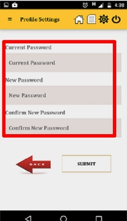 NPS Mobile App Password Reset