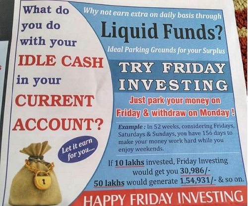Liquid Funds Weekend Investment