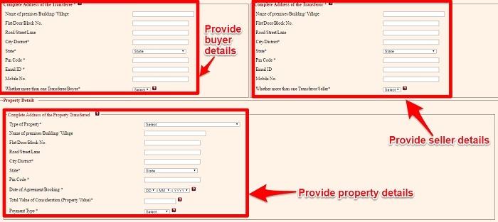 Form 26QB Personal details