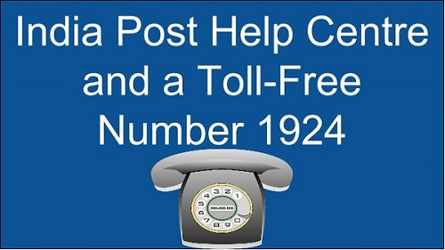 India Post Help Centre and a Toll-Free Number 1924