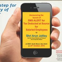 SMS alert Service for TDS in case of Salaried