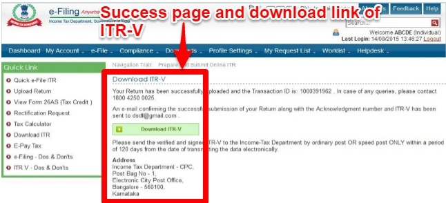 Download ITR-V