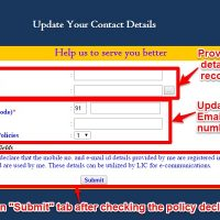 Update Contact Details in LIC Policies online