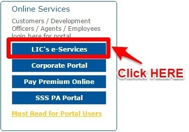 LIC New User Registration and Login