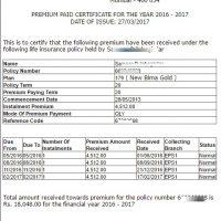 LIC Premium Paid Receive Download