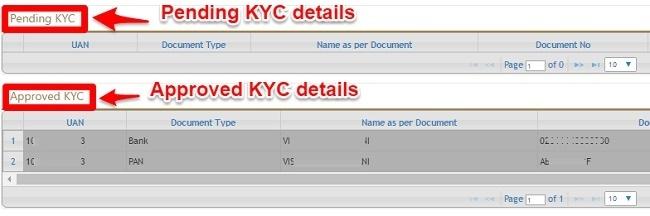 EPF KYC Status