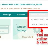 withdraw EPF and EPS online
