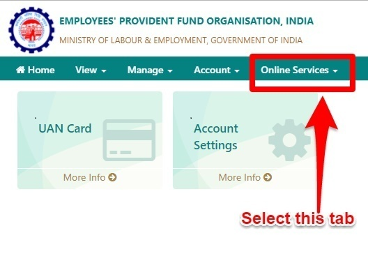 EPF Unified Portal Online Services