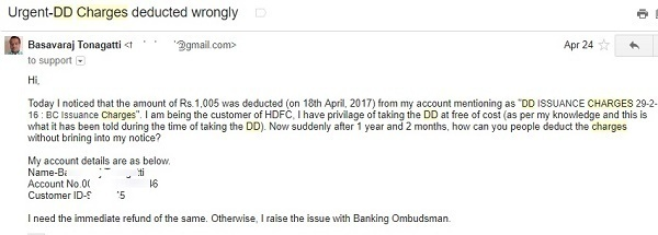 HDFC Bank Email