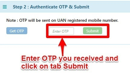 transfer EPF online using EPF Unified portal Step 2
