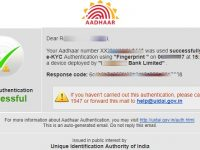 Aadhaar eKYC Successful