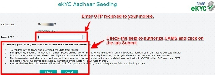 Linking of Aadhaar with Mutual Funds