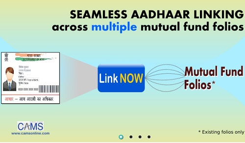 link Aadhaar to Mutual Funds folios online