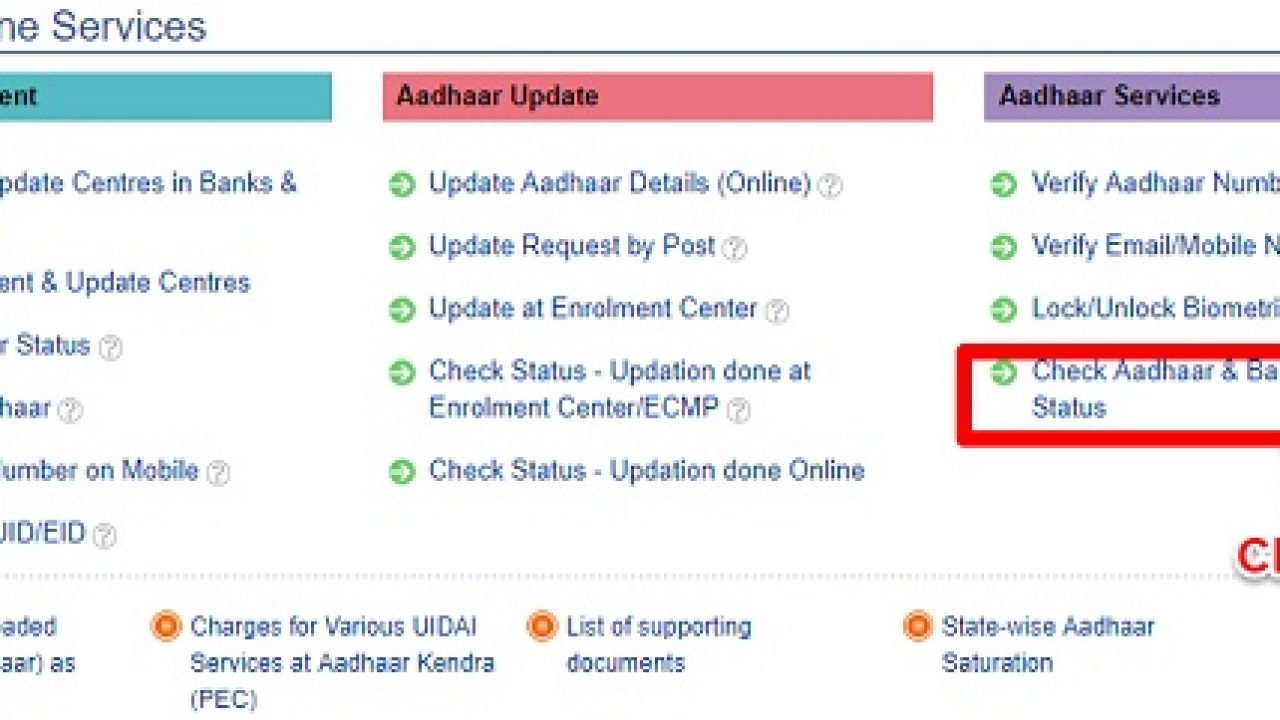 How to check if Aadhaar is linked to bank accounts or not
