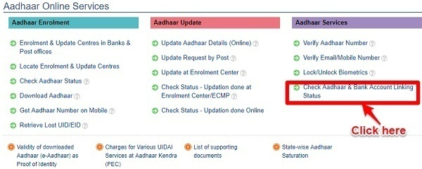 Check if Aadhaar is linked to bank accounts or not - Using UDAI Portal