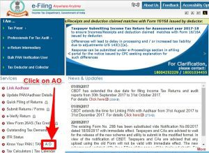 Find Income Tax Jurisdictional Assessing Officer or AO
