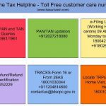 Income Tax Helpline - Toll-Free customer care numbers