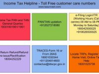 Income Tax Helpline – Toll Free customer care numbers