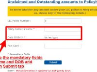 find LIC policy number by name and date of birth