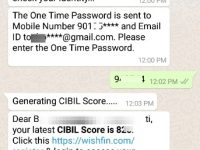 check free CIBIL Credit Score on WhatsApp online
