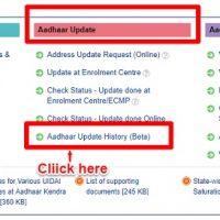 view or download Aadhaar update history