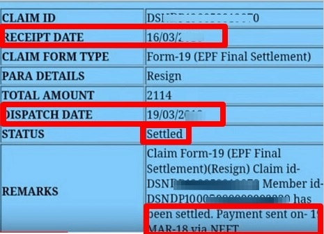 EPF claim settled but amount not credited or received – What to do?