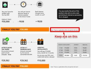 No Cost EMI from Amazon and Flipkart