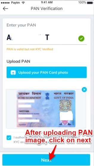 Paytm Money PAN Verification