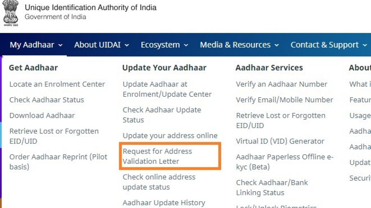 How to change Aadhaar address online without address proof? - BasuNivesh