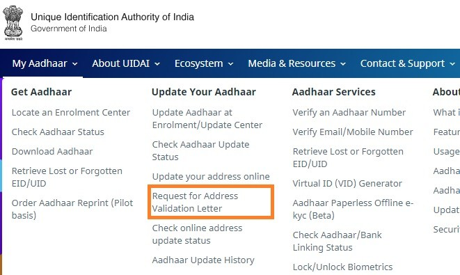 How to change Aadhaar address online without address proof?