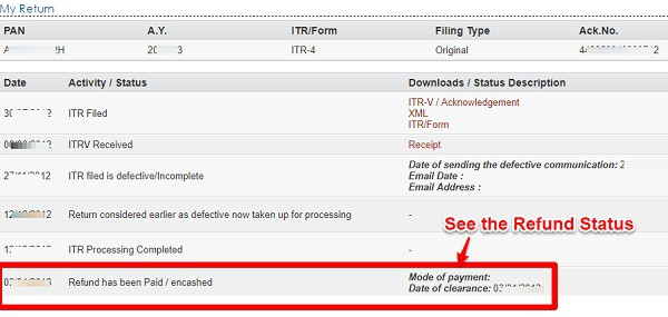 Track Income Tax Refund Status AY 2019-20 Efiling with Login