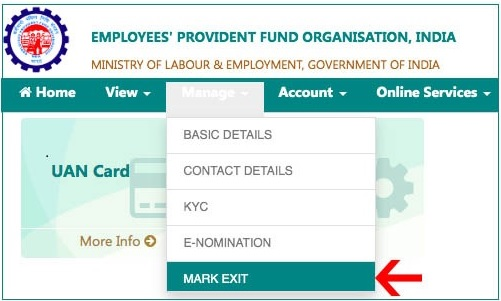 update EPF Date of Exit Online without employer