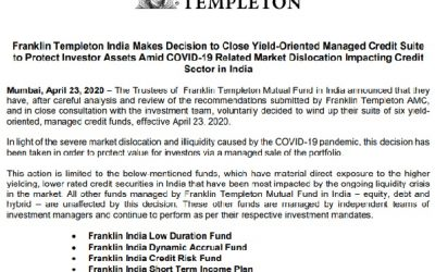 Franklin Templeton India Closed 6 Debt Funds – What investors can do?