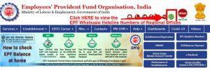 EPF Whatsapp Helpline Numbers - Full list of Regional Offices